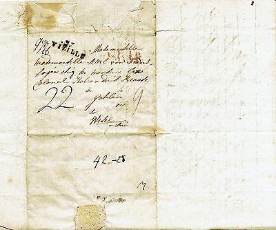 Brief von Willem Elie von Frens1806 aus Grenoble an Madmoselle Amelie v. Frens
