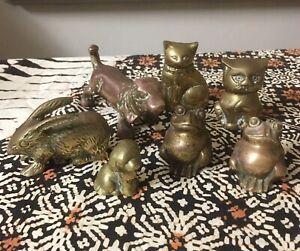 7 brass animals as a set