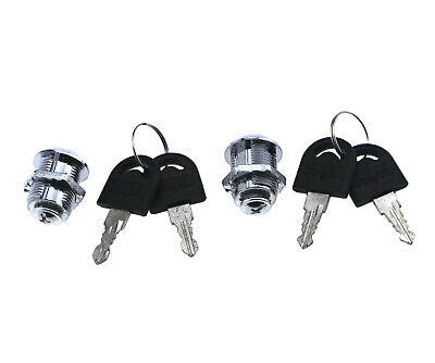 2 Pcs Cam Locks Security Door Cabinet Mailbox Drawer Cupboard Locker4 Keys New