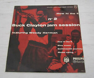 RARE-BUCK-CLAYTON-JAZZ-FRENCH-ORIGINAL-LP-PHILIPS-MINIGROOVE-HERMAN-JAM-NO-2