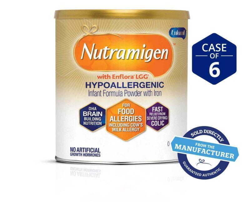 6 Cans NUTRAMIGEN LOT OF INFANT FORMULA W ENFLORA 12.6 OZ. 05/01/2022