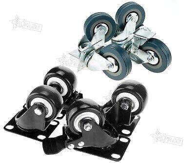 4x 5075mm Swivel Castor Wheels Trolley Furniture Caster Bearing Roller Set