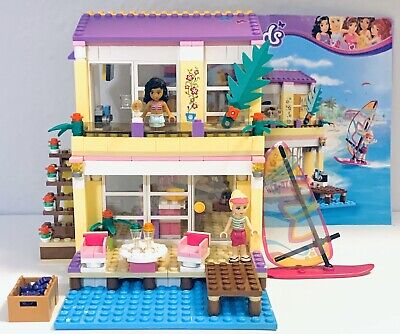 LEGO Friends Stephanie's Beach House Set 41037 Complete with Instructions No Box