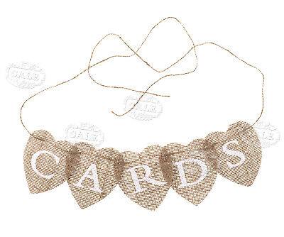 Burlap Baby Shower Banner (Rustic CARDS Bunting Burlap Hessian Banner Wedding Baby Shower Engagement)