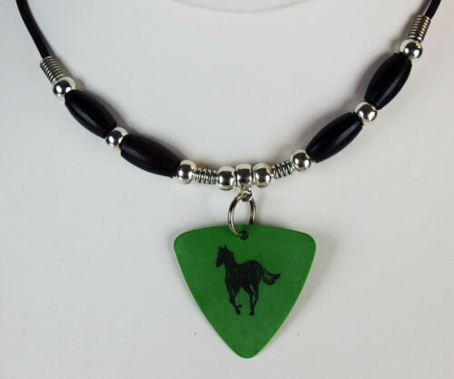 Deftones Chino Green Pony Guitar Pick Necklace