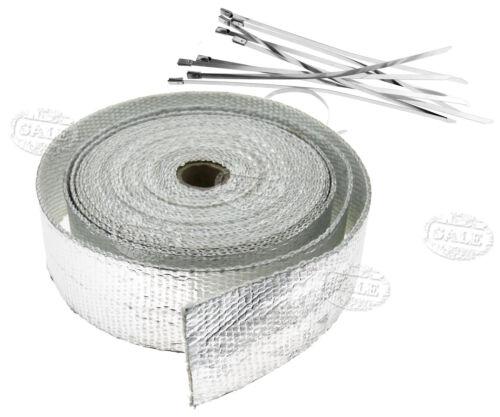1pcs 10m Hitzeschutz Alu Auspuffband Hitzeschutzband mit 10x Kabelbinder Kit