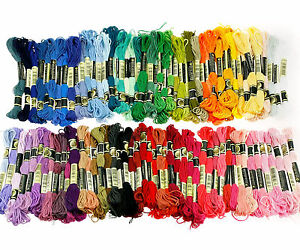 100 Differ Color Cross Stitch Cotton Embroidery Thread Floss Sewing Skeins