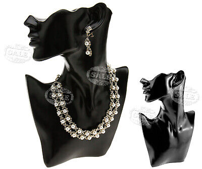 Jewelry Necklace Choker Pendant Earring Display Bust Display Stand Resin Black