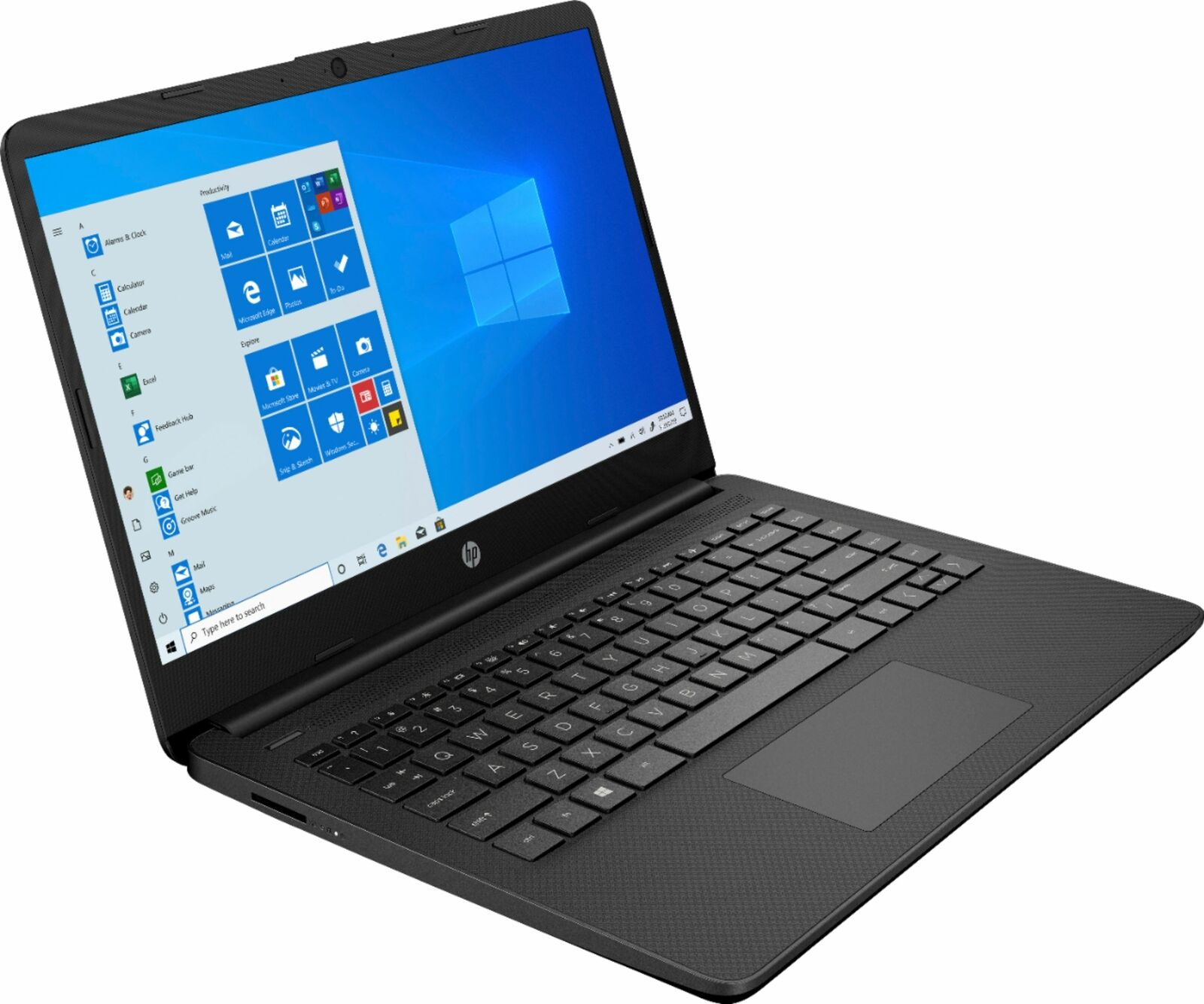 "New HP 14"" Laptop AMD Athlon Silver 4GB Memory 128GB SSD Jet"