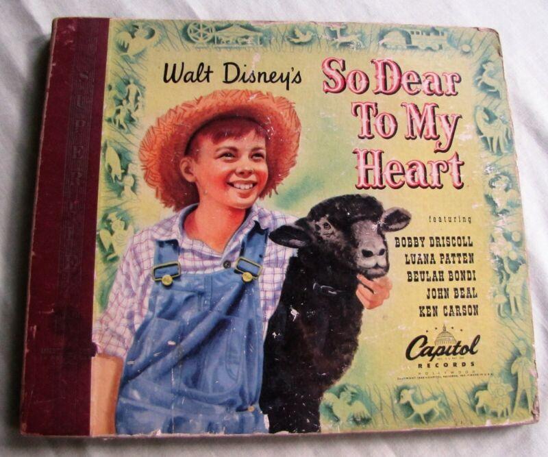 78 RPM record set, Walt Disney's So Dear to My Heart, Capitol, 1949, Bobby Drisc