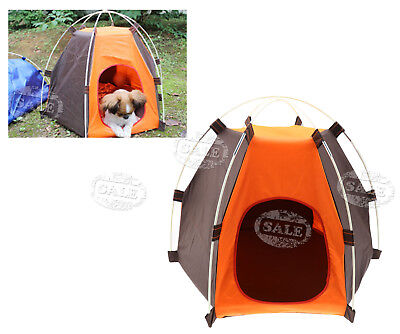 Small Pet Cat Dog Tent Outdoor House Kennel Bed Puppy Portable Cage Carrier
