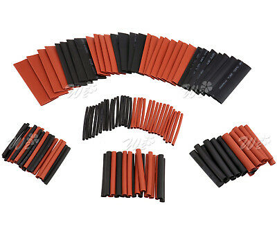 127pcs Car Electrical Cable Heat Shrink Tube Tubing Wrap Sleeve Assorted 8 Sizes