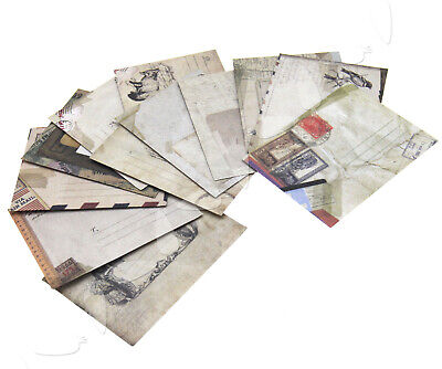 12 x Mini Vintage Envelopes Kraft Paper For Cards Tags Gift Thank You Wedding
