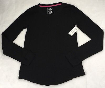 Junioren Long Sleeve Thermal (Junior SO Long Sleeve Thermal Top Size M Black Cotton Blend New)