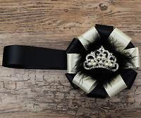 Impresionante Magnetizado Charm Cochecito Corsage En Brillante Crema Cinta Con -  - ebay.es