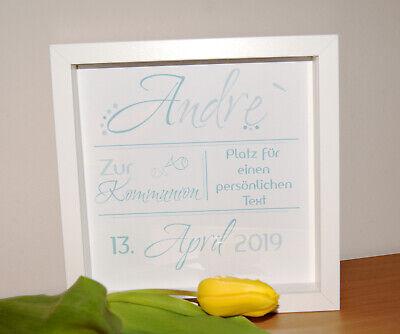Bilderrahmen Kommunion Geschenk Erinnerung Kommunionsgeschenk Junge Pate ()