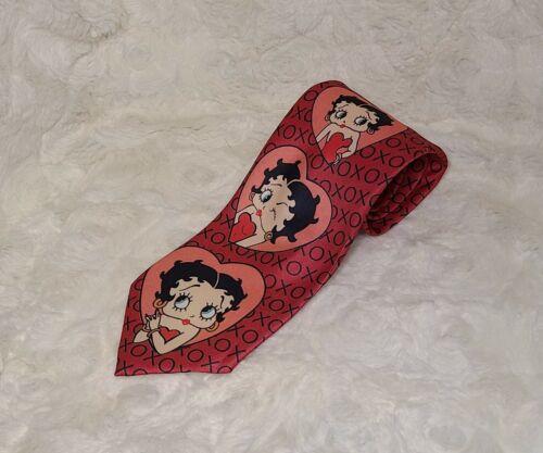 Vintage Men's Neck Tie Betty Boop by Ralph Marlin 1993 Colorful Necktie