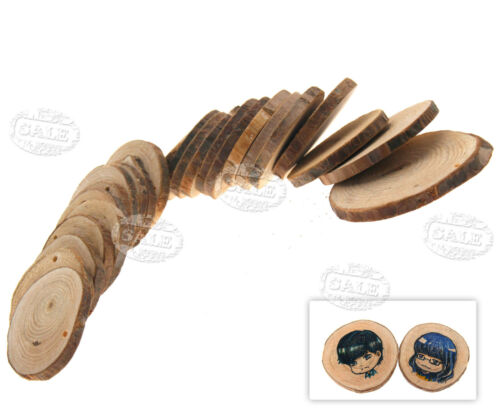 100pcs Wooden Log Slices Discs Round Decorative Rustic Wedding Centerpieces