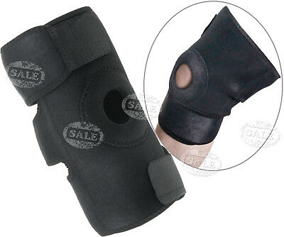 Sports Medicine Hinged Wraparound Knee Brace Support Regular Durable Black