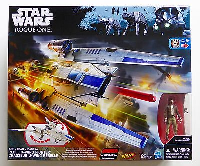 STAR WARS NEW ROGUE ONE DELUXE UWING FIGHTER SHIP + CASSIAN ANDOR MISB U WING RO