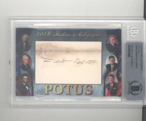 Daniel Webster auto cut signature 2018 Historic Autographs POTUS Secretary State