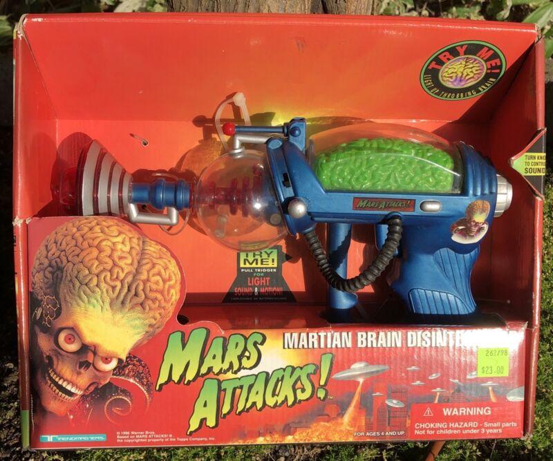 Vintage 1996 Mars Attacks! MARTIAN BRAIN DISINTEGRATOR Lights Sound Trendmasters
