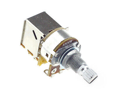 """16mm Body with 1//4/"""" D Shaft Philmore PC87 500K Ohm Audio Taper Potentiometer"""