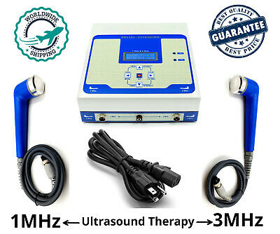 New Ultra Prof. Ultrasound Therapy 1mhz 3mhz Electroterapy Physiotherapy Unit