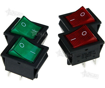 Redgreen Lamp 4 Pin Onoff 2 Position Dpst Rocker Switch 16a250v 4 Pins