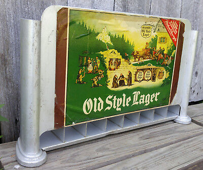 Vintage Art Deco Aluminum Bar Counter Top Old Style Lager Beer Cigarette Display