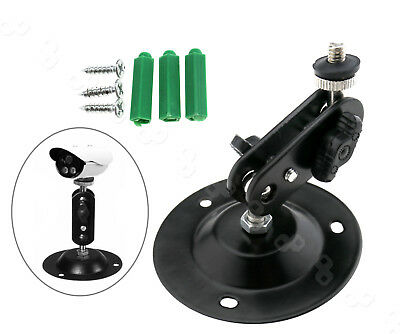 360° Rotary Adjustable Security CCTV Camera Wall Mount Bracket Stand Kit Set