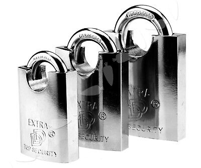 405060mm Combination Padlock Heavy-duty Closed Shackle Carded Steel Padlock