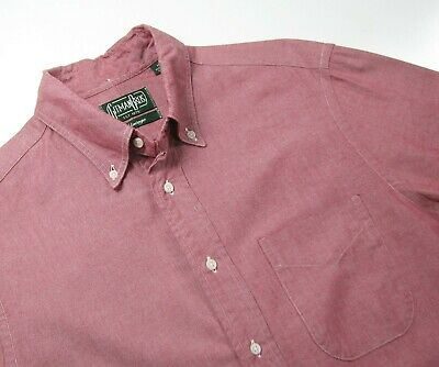 GITMAN BROS. VINTAGE Mens Medium Red Chambray Oxford Button Down Shirt