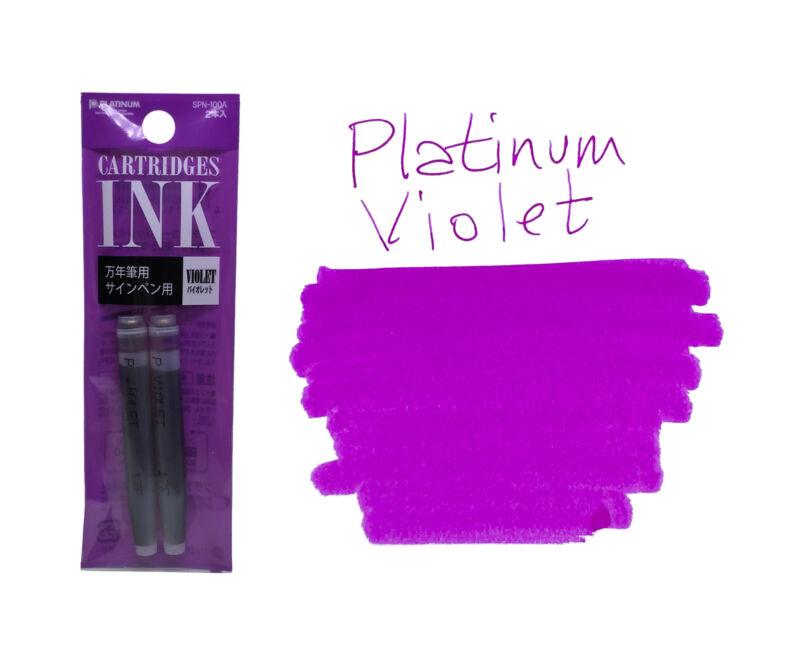 Platinum Preppy Ink Cartridges - Pack of 2 - Violet