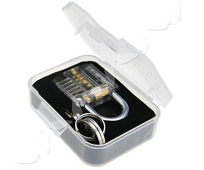 Transparent Padlock Visible Lock Inside View Locksmith Cutaway Practice Tools