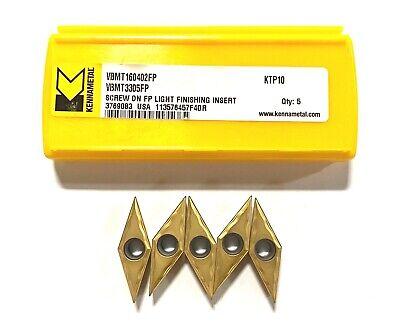 Kennametal Carbide Insert Vbmt3305fp Grade Ktp10 Turning Screw On Inserts 5 Pack