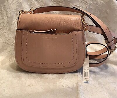 NWT!! Marc Jacobs Empire City Mini Leather Messenger Crossbody Bag In Ballet.