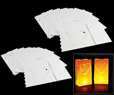 20 Piece Candle Tealight Bags Paper Light Luminary Lantern Wedding Garden Party (Paper Bag Luminary)