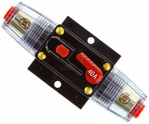 Car Stereo Audio 12V Protection Circuit Breaker Fuse 40 AMP 40A Home Appliances