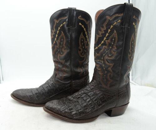 DAN, POST, Boots, Caiman, Cowboy, Flank, Cut, Cognac, Leather, Sz, 9.5, Birmingham, Western