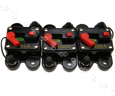 80A/150A/200A Automatische Sicherung Automat Automatik Schalter Auto 12-24V 200a Auto