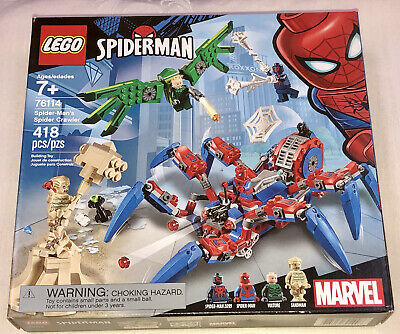 Lego Marvel Spider-Man's Sandman Vulture Spider Crawler Set 76114 New Sealed