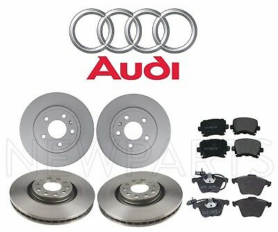 Front /& Rear OE Disc Brake Rotors /& Ceramic Pads For Q5 Audi A4 A5 Allroad