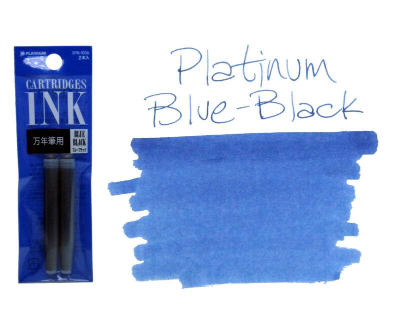 Platinum Preppy Ink Cartridges - Pack of 2 - Blue-Black
