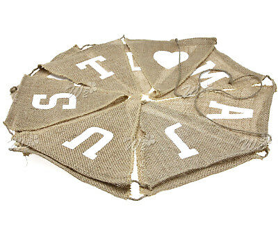 Just Married Vintage Hessian Burlap Banner Wedding Reception Decoration](Burlap Wedding Decor)
