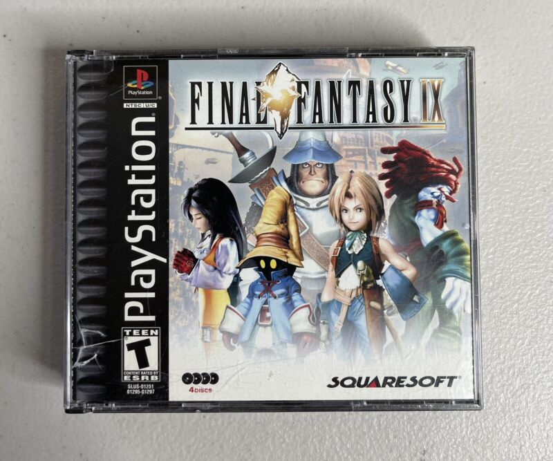 Final Fantasy IX Sony PlayStation 1 PS1 Black Label Complete TESTED
