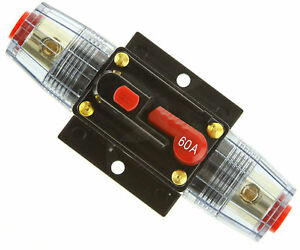 12V DC Car Audio Circuit Breaker Fuse 60AMP 60 AMP 60A
