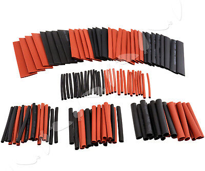 127pcs Blackred Heat Shrink Tubing Kit Wire Electrical Assortment Sleeving Tube