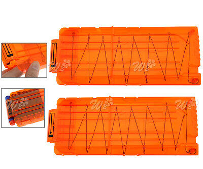 2 x 12 Quick Reload Clip System Darts for Toy Gun Nerf N-Strike Blaster