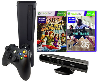 Xbox 360 Slim 4GB with Kinect Sensor, Adventures, and Nike+ Bundle for sale  Shipping to Canada